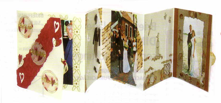 leporello foto folder f r scrapbooking mit umschlag champagner karten basteln scrapbooking. Black Bedroom Furniture Sets. Home Design Ideas