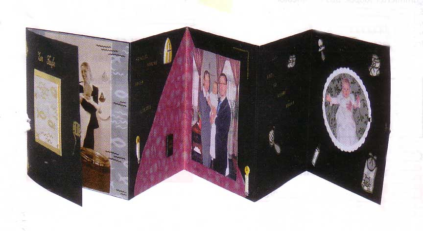 leporello foto folder f r scrapbooking mit umschlag schwarz karten basteln scrapbooking alben. Black Bedroom Furniture Sets. Home Design Ideas